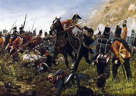 King's German Legion in action at the Battle of Waterloo