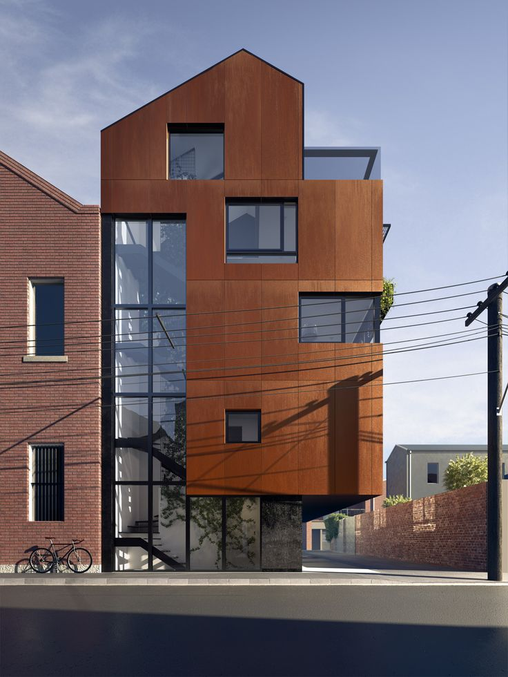 The mixture of materials and shapes created by #dkoarchitecture makes these lofts a refined addition to the Collingwood area (Bedford st)