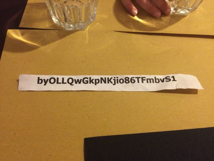 An italian password to access a restaurant wifi. Unbrakable