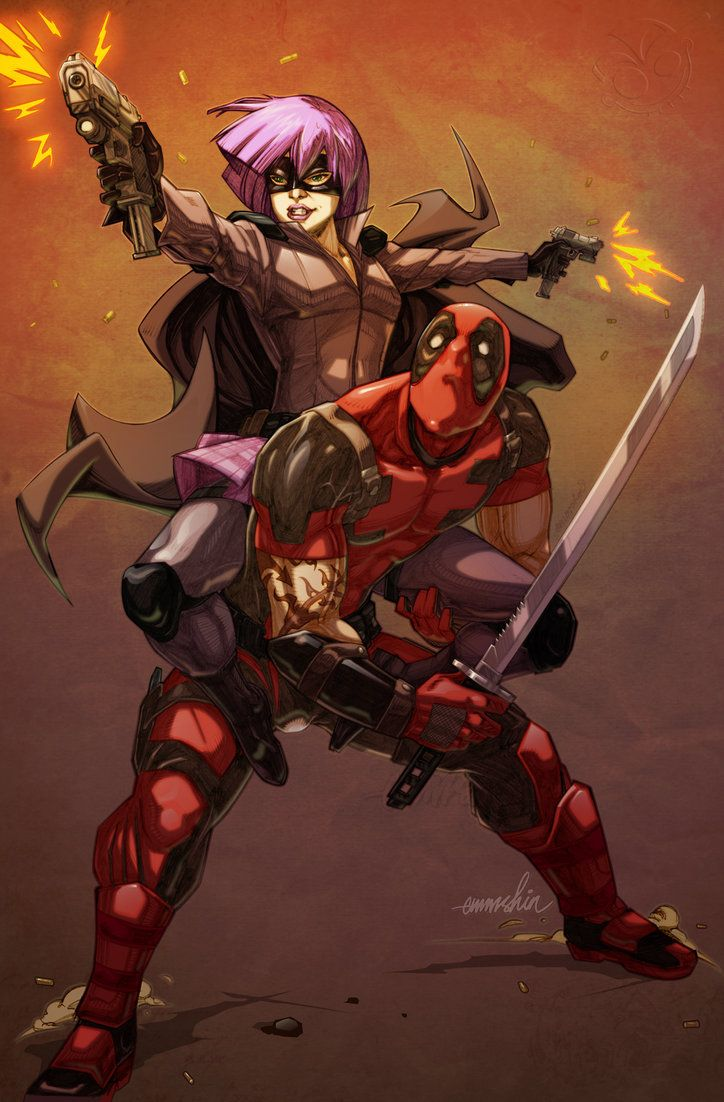 Hit-Girl x Deadpool- Emmshin
