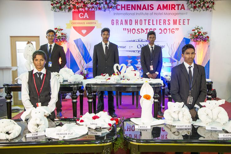 Chennais Amirta: CA Students manifested their talents in Towel folding in front of top most hoteliers. They could do 25 items within 10 mintues including Cow, Dragon Fly, Lotus, Candle, Teady Bear, Doll, Elephant, Butterfly, Swan, Monkey etc.,