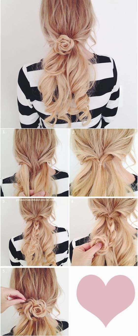 peinado recogido para pelo largo