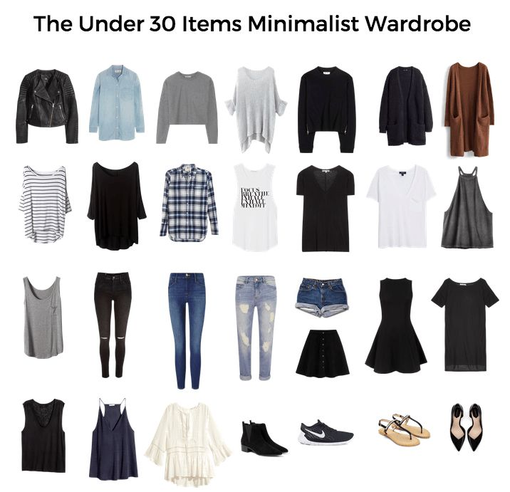 Minimalist capsule wardrobe - Live simply with under 30 items in your closet via lifegoalsmag.com