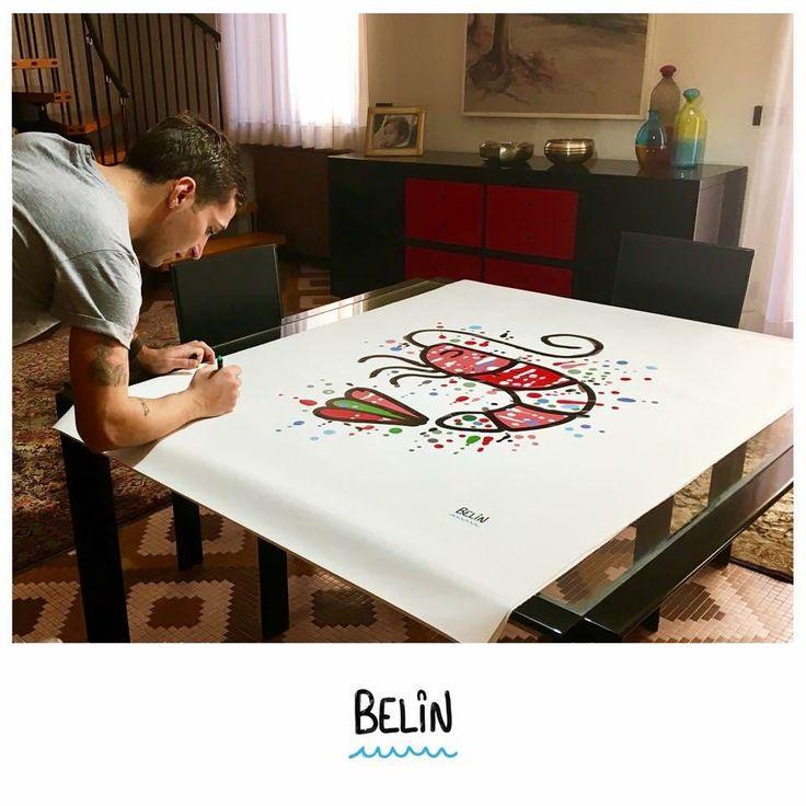 #Lunigiana - L'estro del giovane Nicolò #Camaiora colpisce ancora e a partire dalla sua amatissima #Liguria: con stampe su tela e una linea di porcellane artigianali di qualità il nuovo BELIN Concept si presenta