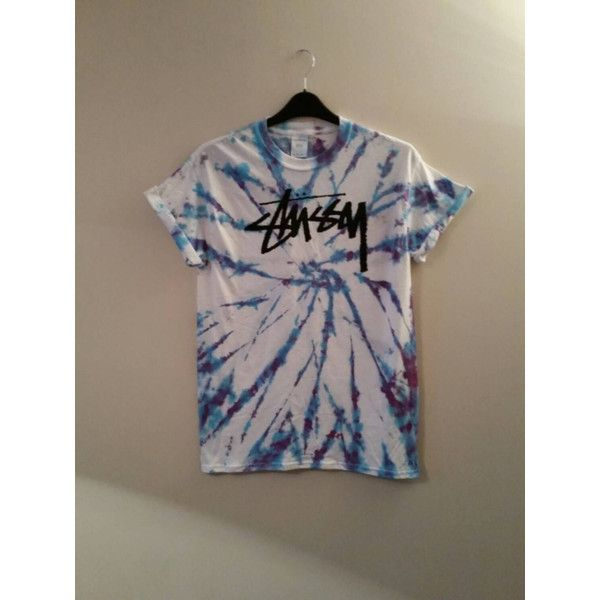 Unisex Customised Acid Wash Tie Dye Stussy T Shirt Sz Large Festival... ($24) ❤ liked on Polyvore featuring tops, t-shirts, grey, women's clothing, grunge t shirts, grey top, tie dyed t shirts, tye die t shirts und unisex tees