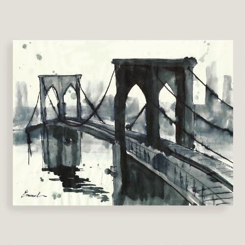 Dogwood framed canvas art pottery barn see more brooklyn bridge ii by emanuel ologeanu