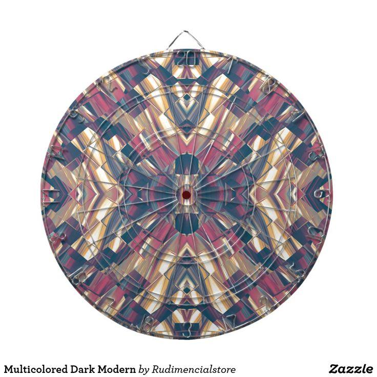 Multicolored Dark Modern Dart Boards