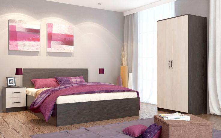 Спальный гарнитур Ронда композиция 1