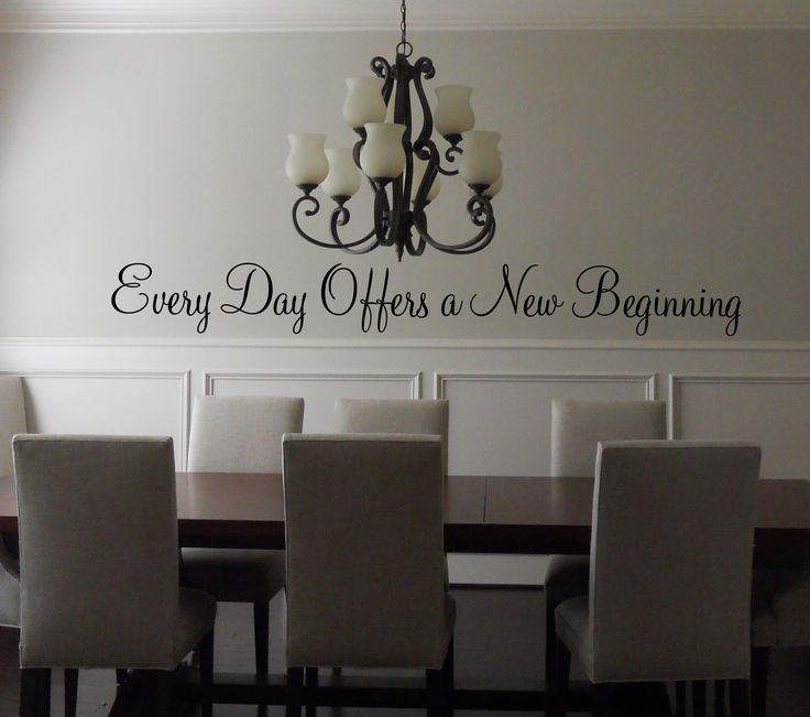 Every Day Offers A New Beginning Wall Decal. Dining Room QuotesDining ... Part 73
