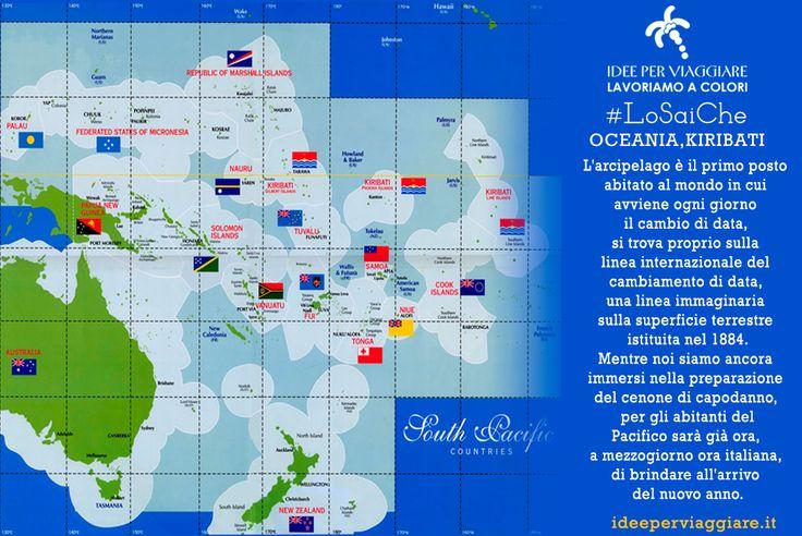 I #LoSaiChe di #IdeeperViaggiare continuano.......http://www.ideeperviaggiare.it #Capodanno #Oceania #Kiribati