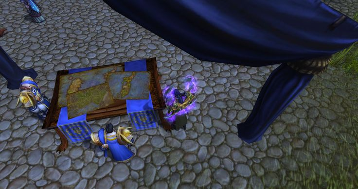 Officers in a tent near the recruiters in Stormwind Harbor are poring over maps of pre-shattering Azeroth as well as Hillsbrad while talking about the Broken Shore #worldofwarcraft #blizzard #Hearthstone #wow #Warcraft #BlizzardCS #gaming