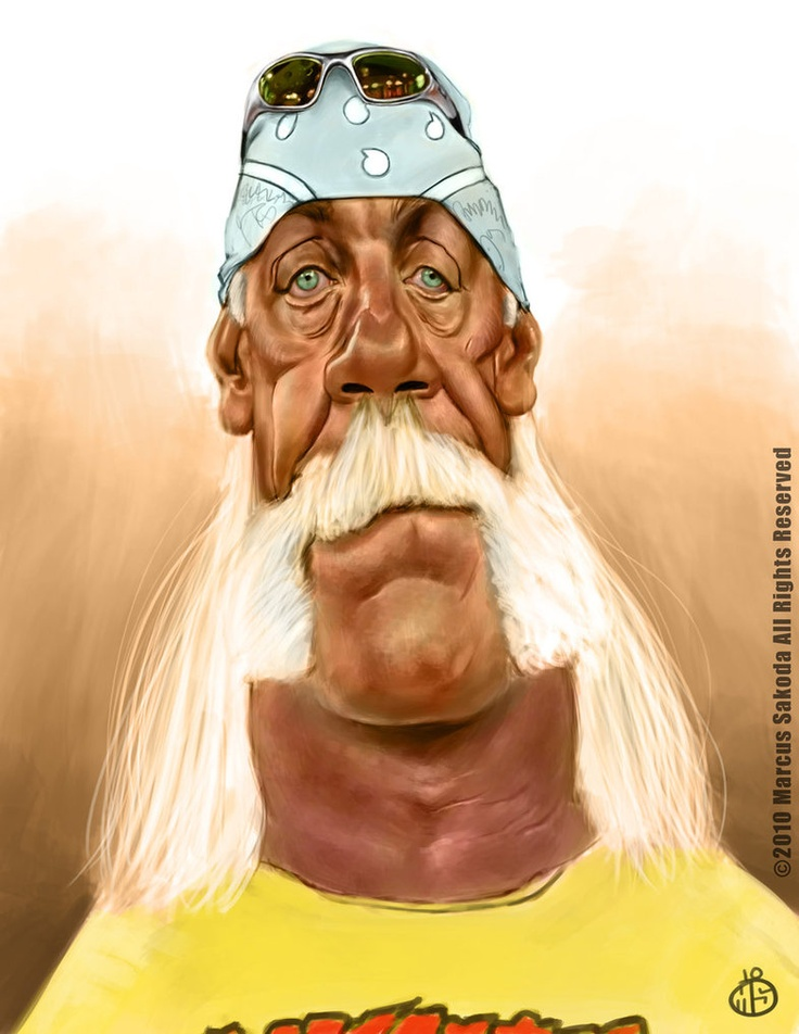 Hulk Hogan Caricature by ~Jubhubmubfub ^_^