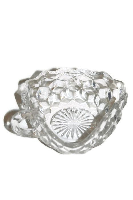 Fostoria Candy Dish 3 Cornered Handled Nappy by CocoRaes, $9.00