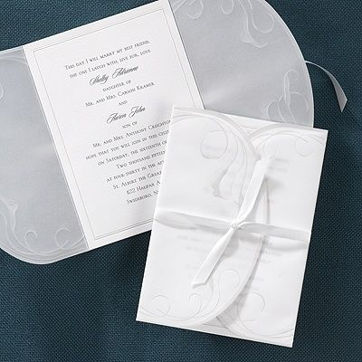 Calla Lily Embrace Wedding InvitationA Bright White Card With A Translucent  Wrap Around It And Tied Together With A Satin Ribbon. Invitations Inform  Your ...