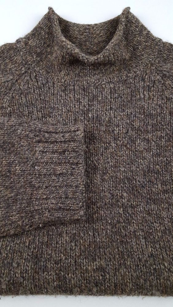 ABERCROMBIE and FITCH Sweater XL Mens WOOL Mock NECK Turtleneck BROWN Canada SZ* #AbercrombieFitch #Turtleneck