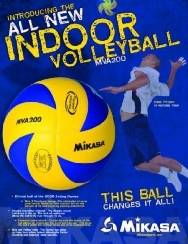 Volleyballs 159132: Mikasa Mva200 2016 Rio Olympic Game Ball (Blue/Yellow) BUY IT NOW ONLY: $51.97