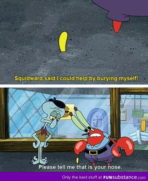 I can't believe spongebob got away with this one