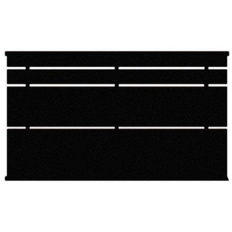 Clôture Cassiope en acier, Haut. 85 x larg. 200 cm