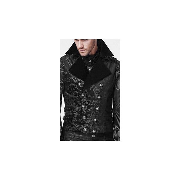 Ipso Facto Men's Gothic Punk Long Sleeve Shirts, Thermals, Vests ❤ liked on Polyvore featuring men's fashion, men's clothing, men's shirts, men's casual shirts, mens thermal shirts, mens victorian shirt, mens thermal vests and mens long sleeve casual shirts