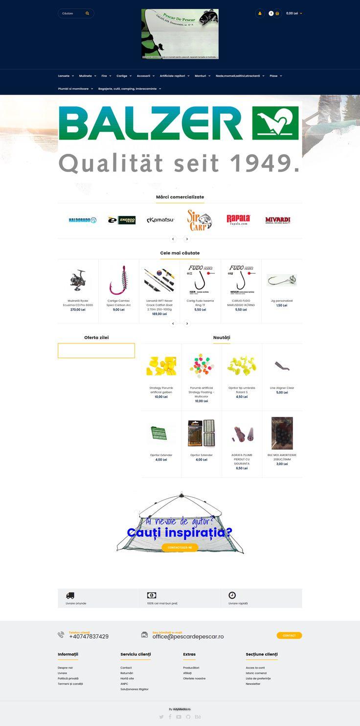 Magazin Online cu articole, scule, unelte si accesorii pentru pescuit. Create de www.adymedia.ro