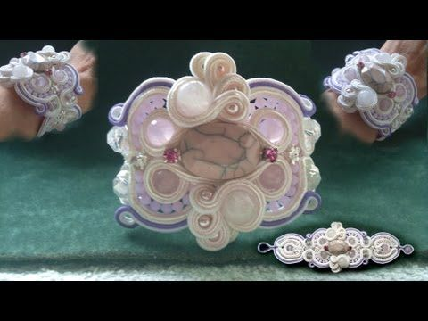 """Beading4perfectionists : """"Candywrapper"""" stitch for Soutache beading tutorial part 1 of 5"""