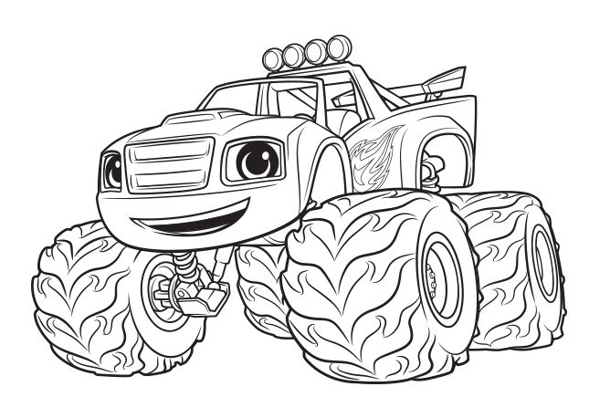 Monster machine coloring pages blaze monster truck for Immagini di blaze