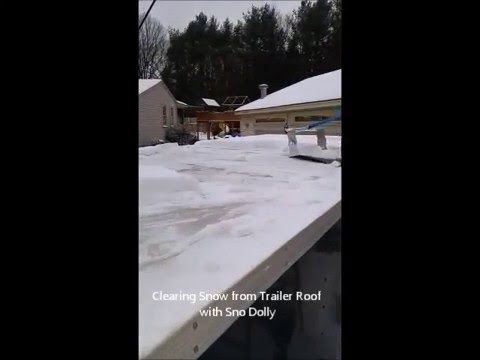 Roof Snow Tool Video, Snow Removal Equipment, Roof Snow Removal Equipment  Using Sno Dolly
