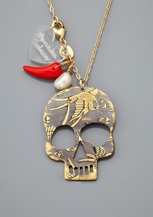 MERCEDES SALAZAR Calavera Charm Necklace