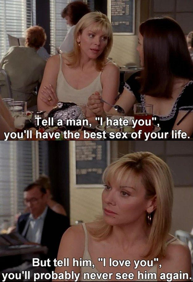 "Men… | Community Post: 80 Of Samantha Jones' Best Moments On ""Sex And The City"""