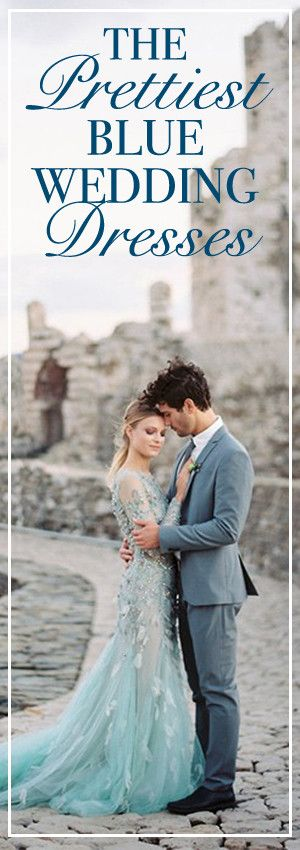 The Prettiest Blue Wedding Dresses