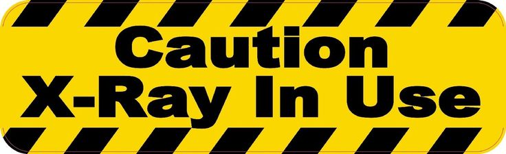 """10"""" x 3"""" Caution X-ray In Use Business Sticker Store Sign Decal Decals Stickers"""