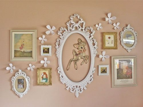 Lovely photo frame on wall