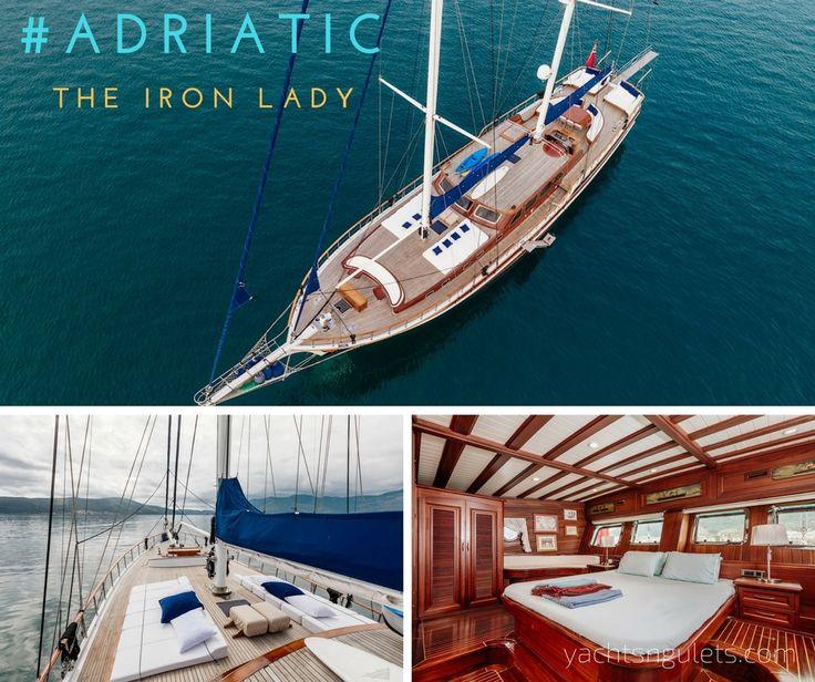 see the #new photos for THE IRON LADY #gulet #premium #charter #gorgeous design sleeps 12 #montenegro #croatia