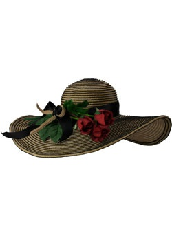derby hat with roses