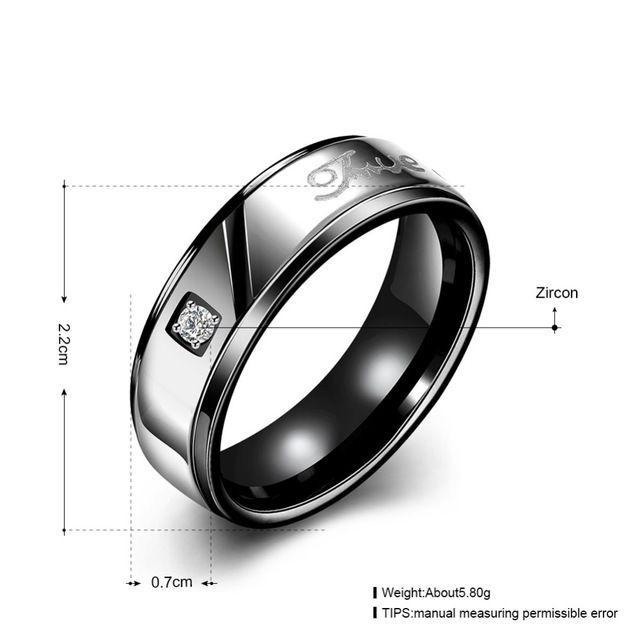ГОРЯЧАЯ! бесплатная Доставка Позолоченные Кольца Мужские Черные стали титановые кольца Г-Жа роуз стали титана кольцо любителей кольцо TGR100