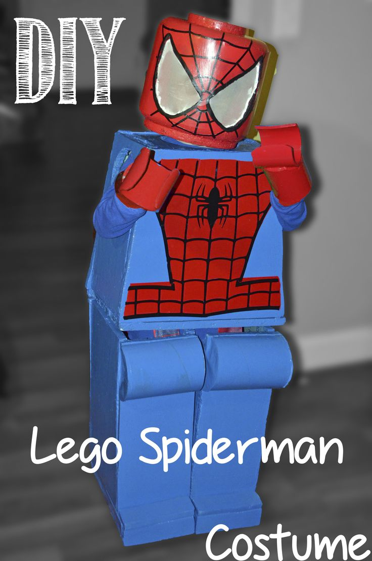 DIY Lego Spiderman Costume Halloween Legoman