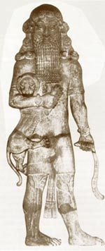 Nephilim Giants Nimrod | Nimrod-Gilgamesh the Nephilim giant. Note the lion under his right arm ...