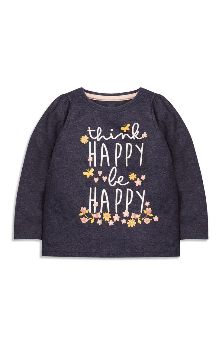 Primark - Grijs shirt Be Happy