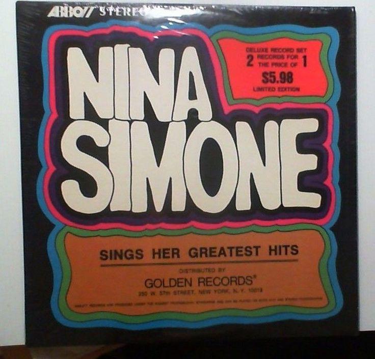 NINA SIMONE Sings Her Greatest Hits (Jazz LP Album) Abbott Records 2Xs SEALED #ContemporaryJazz