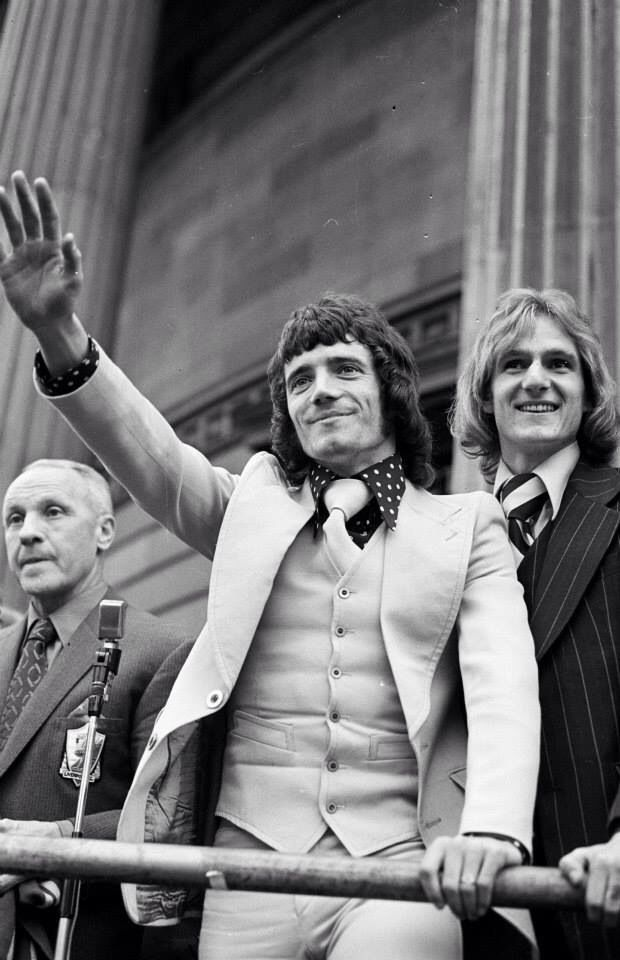 """Manager William """"Bill"""" Shankly (Liverpool FC, 1959–1974), Kevin Keegan (Liverpool FC, 1971–1977, 230 apps, 68 goals) and Phil Thompson (Liverpool FC, 1971–1984, 340 apps, 7 goals)."""