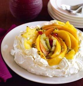 Recette du dessert pavlova mangue-passion