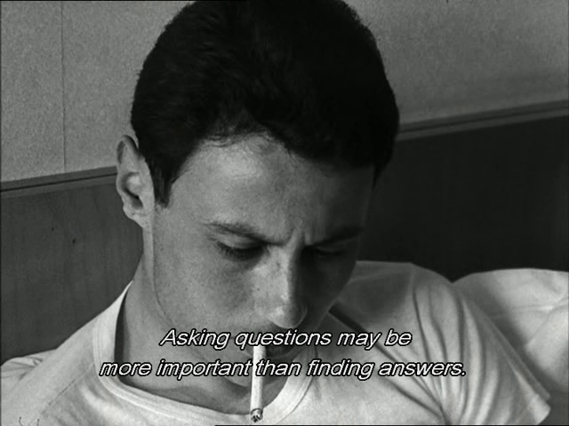 Asking questions may be more important than finding answers • Le Petit Soldat • Jean-Luc Godard