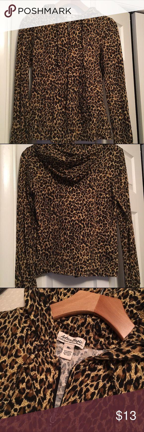Animal Print Hoodie NWOT Animal print Light-weight hoodie. 95%Cotton 5%Spandex. Tops Sweatshirts & Hoodies