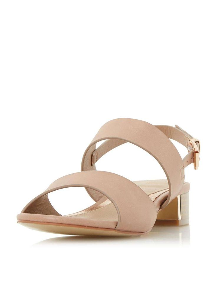 Womens *Head Over Heels by Dune Nude 'Navilla' Low Heel Sandals- Nude