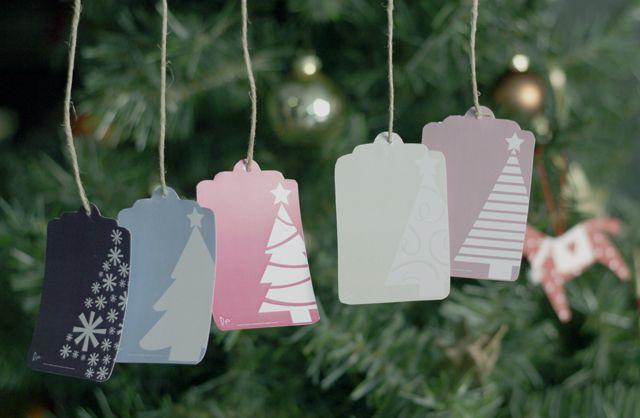 Celebra la Navidad con estas etiquetas | Imprimible