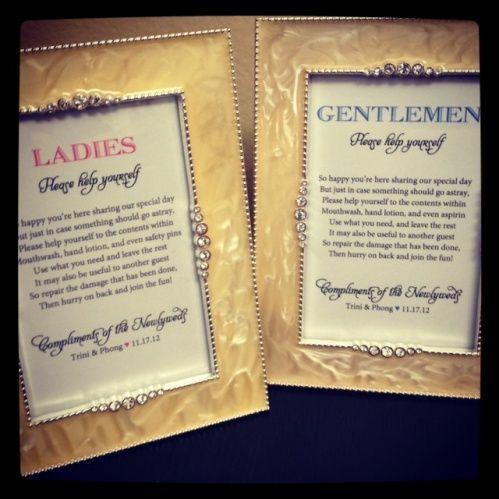 To go with the wedding bathroom basket  nice saying. 17 Best ideas about Wedding Bathroom Baskets on Pinterest