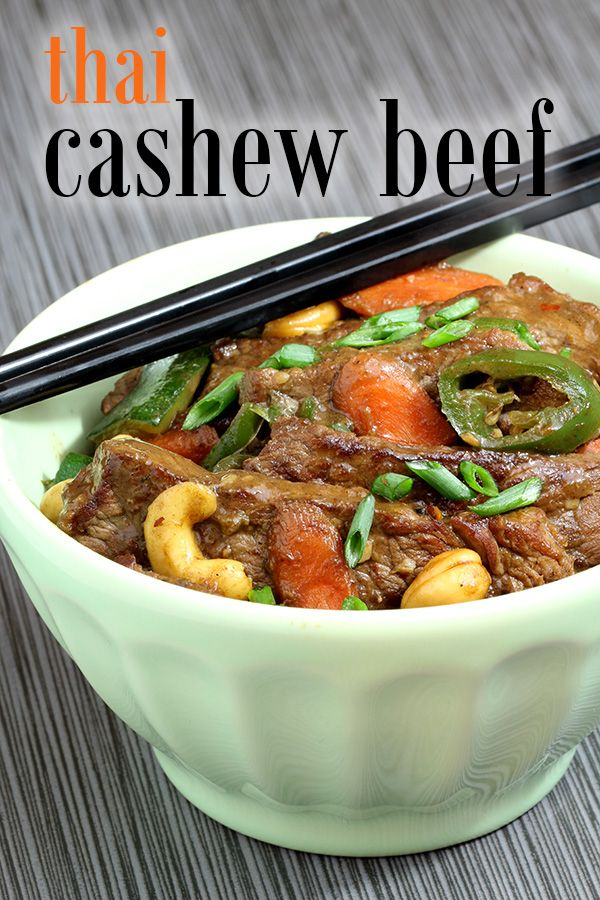 Try this gorgeous low carb dinner recipe tonight for a creative and extraordinary meal! Cashew beef thai stir fry - spicy, creamy & authentic. Perfect for a keto diet, paleo friendly, and gluten free! More recipes like this at www.tasteaholics.com