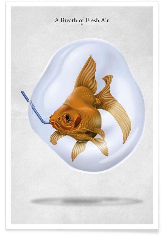A breath of fresh air (titled) - Rob Snow | Creative - Premium Poster art | decor | wall art | inspiration | animal | home decor | ideas | gift