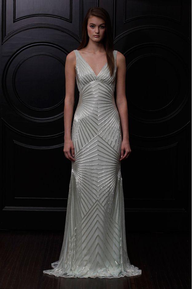 Naeem Khan - Art Deco wedding gown. Beautiful!!!