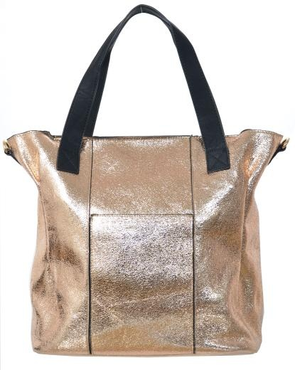 Metallic Bronze 2in1 Zipped Tote Peppermint Uk